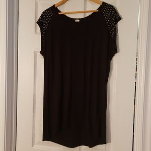 Tops - Black studded top